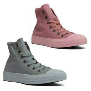 converse altas grises mujer