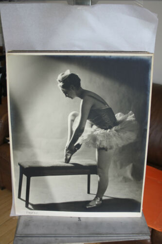 "HUGE Black & White Competition Photograph Print BUTTERWORTH "" BALLERINA 1969"