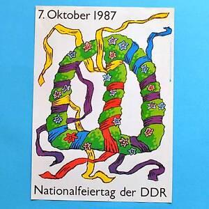 DDR-Plakat-Poster-109-Nationalfeiertag-7-Oktober-1987-40-x-29-cm-Original