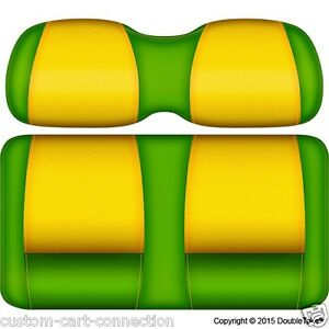 Details about Golf Cart Seats-Front Cushions TROPICAL (LIME & YELLOW) Club  Car, E-Z-Go, Yamaha