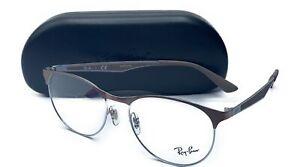Ray-Ban RB 6078 2531 Light Brown Round Metal Rx Eyeglasses