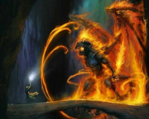 LOTR Magician Demon Battle Painting Paint By Numbers Kit DIY