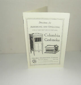 Columbia Grafonola Phonograph Gramophone Instruction Manual Reproduction