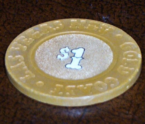 Old $1 GOLD COAST Casino Poker Chip Vintage Antique House Mold Las Vegas NV 1992