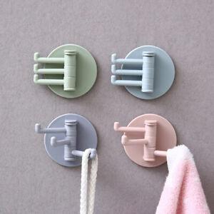 Wall-Mounted-Organizer-Bathroom-Robe-Coat-Intelligent-Towel-Hanger-Hook-New