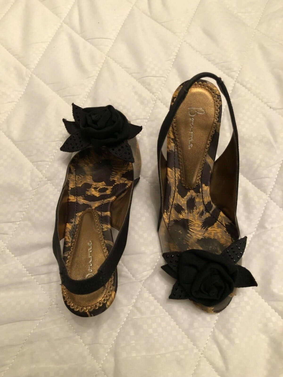 BOURNE Leopard Print Transparent shoes platform 8cm Size EU37 UK 4