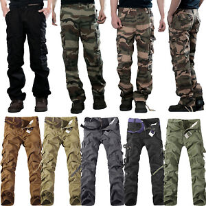 herren cargo hose combat cargohose chino jeans army milit r camouflage l ssig de ebay. Black Bedroom Furniture Sets. Home Design Ideas