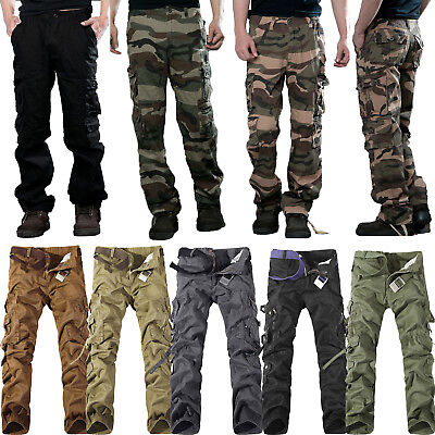 Details about Men's Cargo Millitary Clothing Tactical Pants Outdoor Camo Workwear Trousers Au