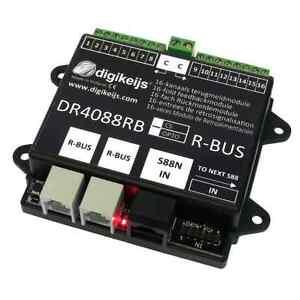 Digikeijs-DR4088RB-CS-16-kanal-Rueckmeldemodul-2Leiter-Z21-2x-Roco-10787-H0-TT