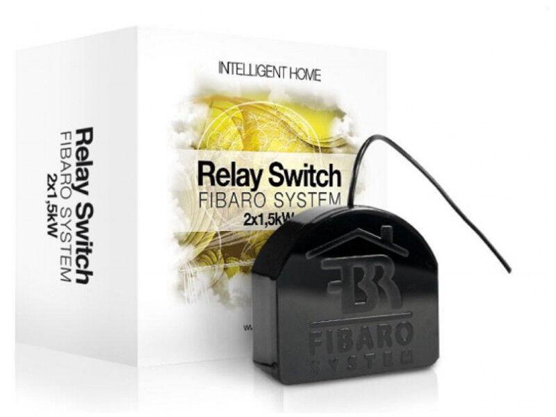 fibaro relay switch 2x1 5kw on off fgs 222 z wave home automation rh ebay com AC Relay Switch Relay Switch Diagram