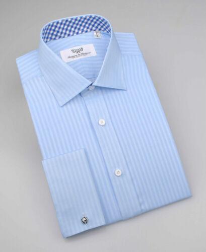 Men/'s Blue Royal Oxford Formal Business Dress Shirt Plaids /& Checks Boss Design