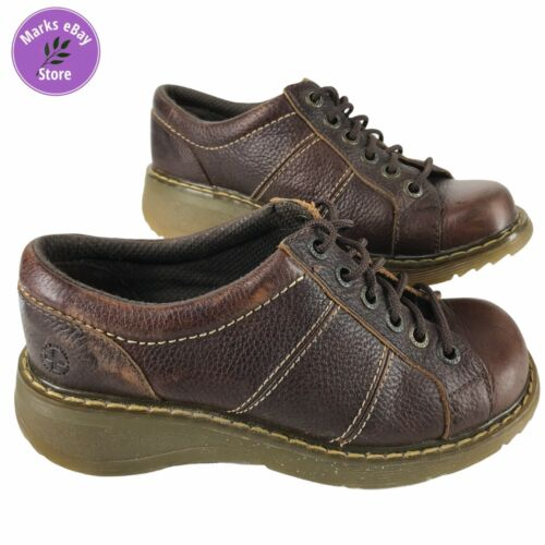 Dr Doc Martins Womens Chunky Brown Leather Eyelet