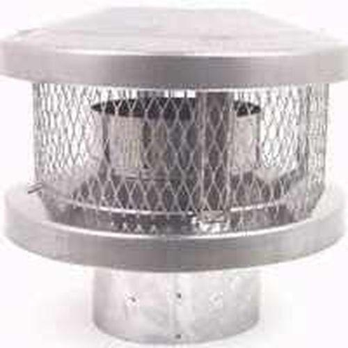 NEW AMERICAN METAL AMERI-TEC 8HS-RCS 8 INCH CHIMNEY STOVE ROUND VENT CAP