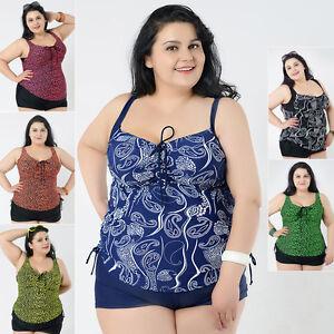 70e51fa413447 New Ladies Swimwear Two Piece Swimdress Tankini AU Size 18 20 22 24 ...
