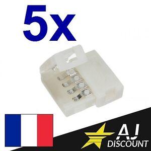 5x-Connecteur-Droit-pour-Ruban-Bande-LED-RGB-5050-strip-4-broches-4pin