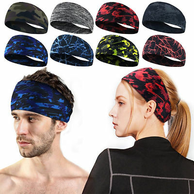 RBMOB Men Women Sweatband Headband Yoga Gym Running Stretch Sports HeadBand