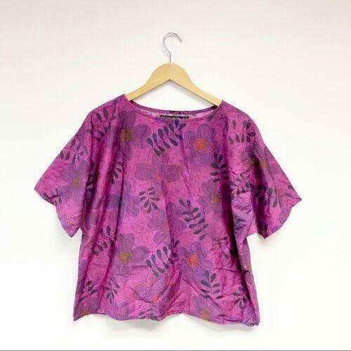 Gudrun Sjoden    Boxy Floral Top Silk Medium