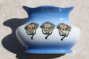 Antique-Unique-Vase-Bowl-BELGIUM-IMPERIAL-FABRICATION-NIMY-Hand-Painted-1800-039-s
