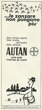 W6073 Autan ...le zanzare non pungono più - Pubblicità 1969 - Advertising