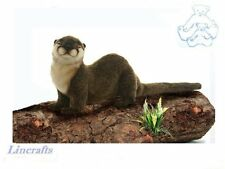 Crouching River Otter Plush Soft Toy  by Hansa  3319