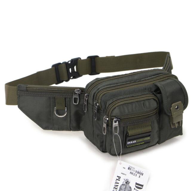 New Black Green Waist Fanny Pack Bum Belt Bag Pouch Travel Hip Purse Mens Women