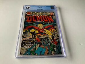 DEMON-1-CGC-8-0-WHITE-PAGES-ORIGIN-AND-1ST-APPEARANCE-DEMON-DC-COMICS-1972