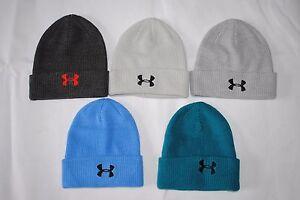 8c30e85867c New Under Armour UA Men s Knit Cuff Beanie Cap Hat Embroidery Japan ...