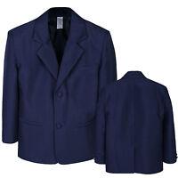 Boys Toddler Formal Wedding Party Church Navy Blazer Style Jacket Coat S-7