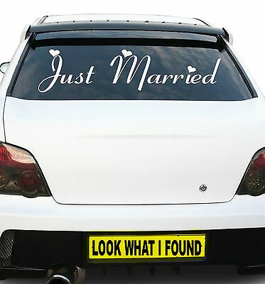 Large Just Married 600m X 150mm Vinyl Sticker,Decal Car Bumper,Window