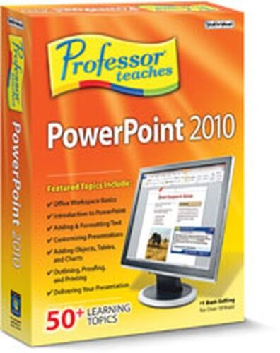 Professor Teaches PowerPoint 2010 Interactive Traning Lessons,Tutorials Course