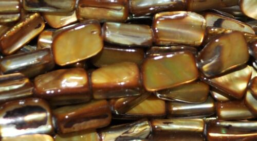 """Une chaîne 16/"""" de pépites shell perles bronze 15 mm *"""
