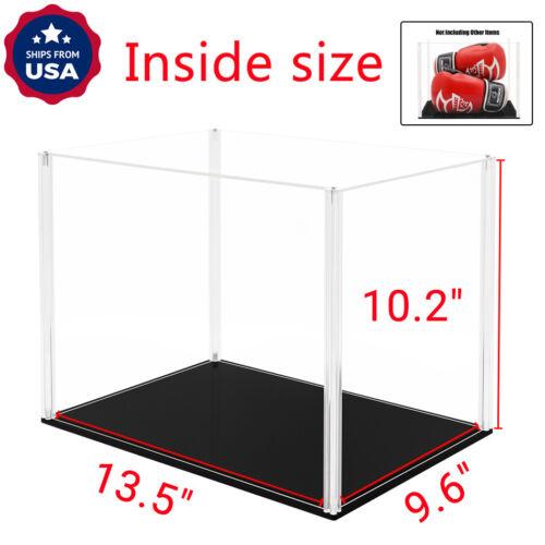"US 14/"" L Acrylic Plastic Display Case Box Big Self-Install Dustproof Protection"