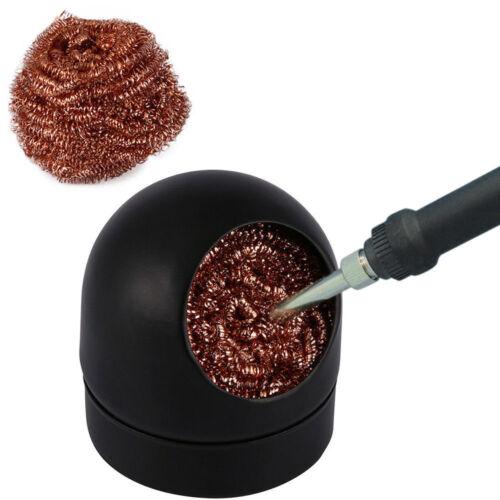 1PC Welding Soldering Solder Iron Tip Cleaner Cleaning Steel Wire Sponge Ball
