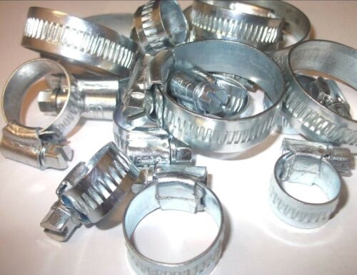 """Pack of 10 Water clip Fuel hose clip Worm drive hose clip 5//16/"""" 1//2 Inch"""