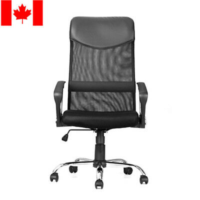 Moustache® Ergonomic Mesh Office Chair 360° Swivel Computer Seat PC Desk Black