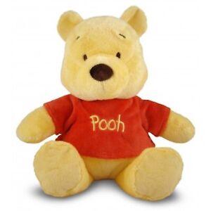 WINNIE-THE-POOH-BEAR-Disney-Beanie-Rattle-Plush-Soft-Toy-28cms-BNWT