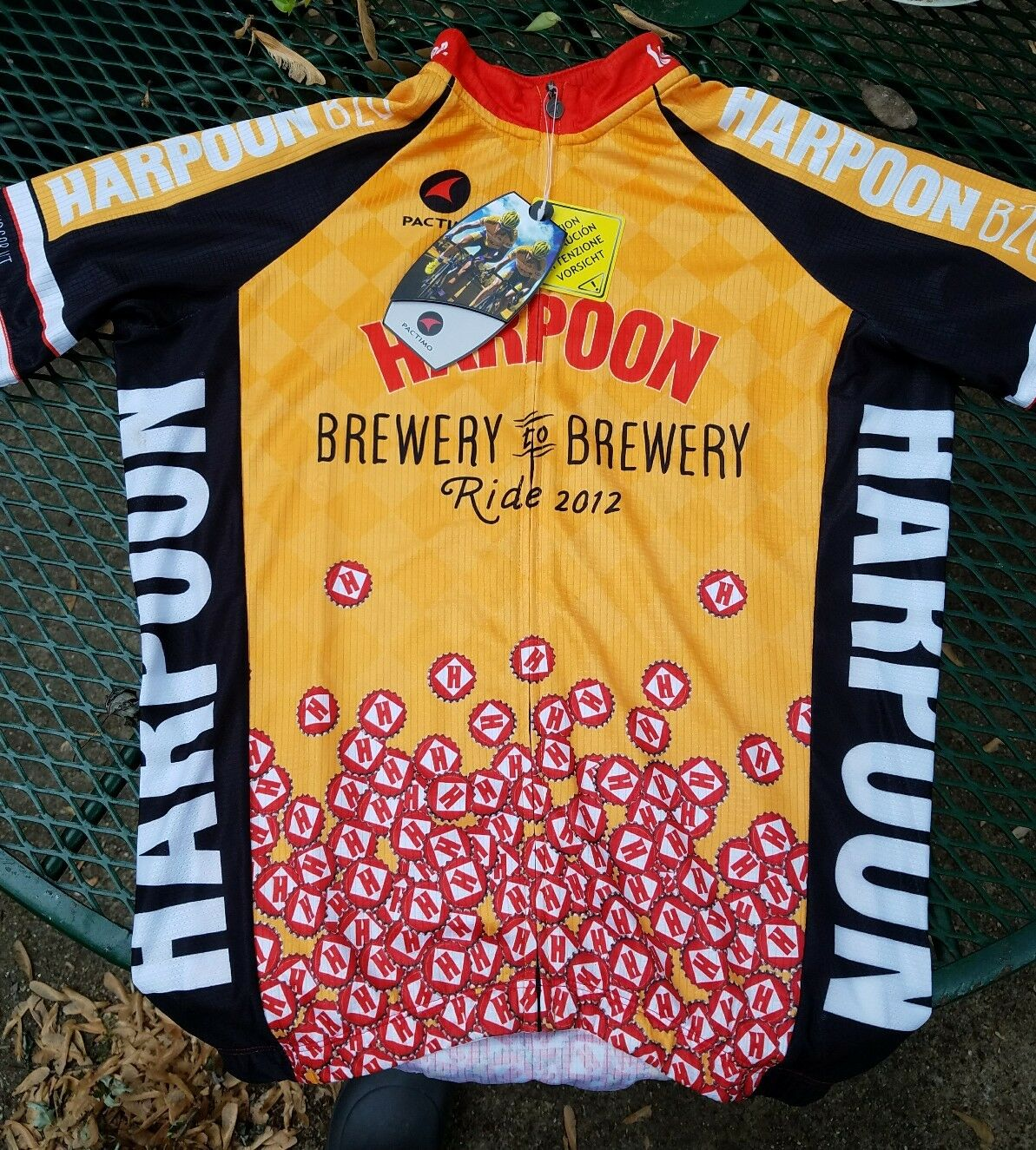 New Harpoon Brewery To Brewery Ride 2012 Cycling Jersey Pactimo Mens Small