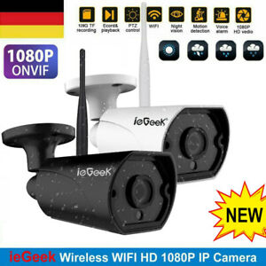 iegeek hd 1080p wifi ip kamera wireless outdoor cctv smart home 2 wege audio dhl ebay. Black Bedroom Furniture Sets. Home Design Ideas