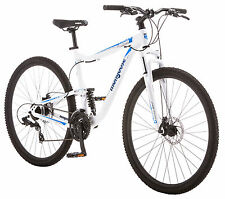 "29"" er white mens full dual suspension mt mtb mountain bike disc brakes sale"