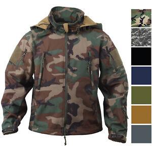 Image is loading Tactical-Soft-Shell-Waterproof-Jacket-Fleece -Lined-Military- ebf637e5029