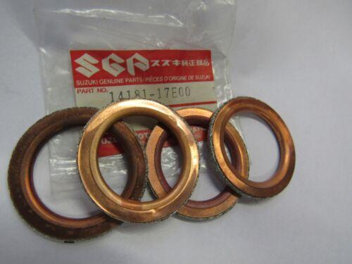 SUZUKI RF900R//RF600R//GSX-R750//GSX-R600 EXHAUST PIPE GASKET NOS SET OF4