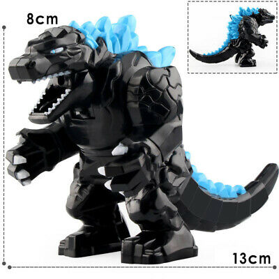 Custom Godzilla Minifigure Dark Gray Building Blocks Figure
