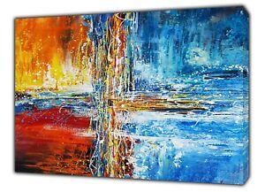 100% Vrai Amazing Abstrait Peinture à L'huile Reproduction Sur Bois Encadrée Toile Décoration Murale-afficher Le Titre D'origine