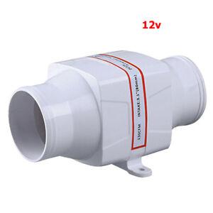 """3"""" In Line Blower Boat Bilge Engine Galley Marine Ventilation Fan 12V 130CFM"""