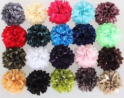 Haarblume SHINY 20 Farben Haarblüte Ansteckblume Stoffblume Brosche Haarspange