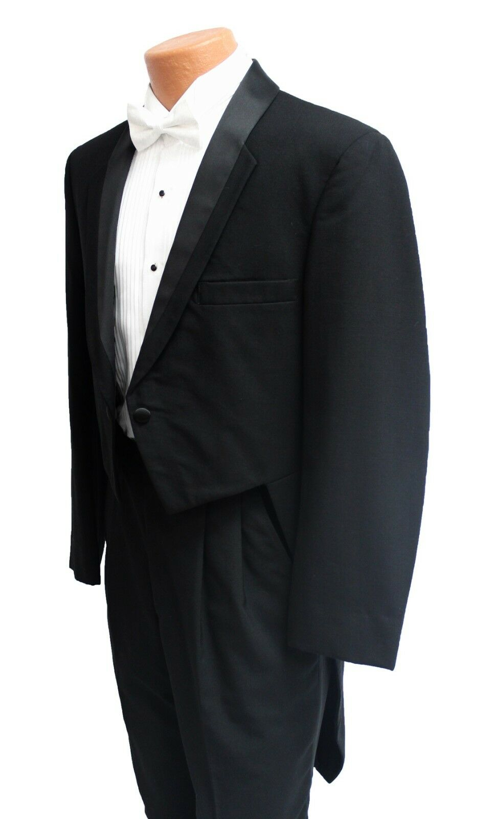 39L Christian Dior Black Toulon Tuxedo Tailcoat 39 Long Mardi Gras Long Tails
