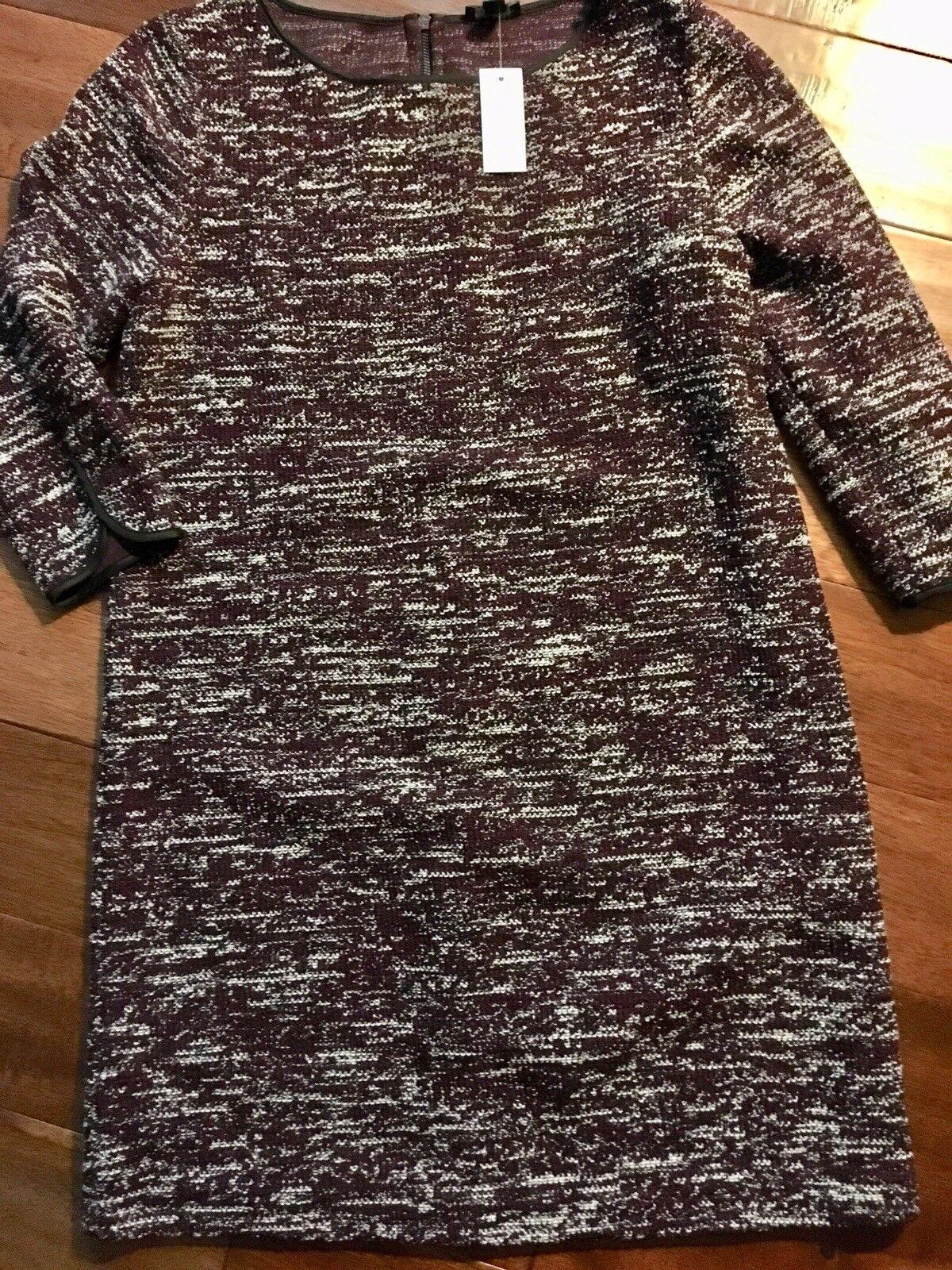 8f1eb58485e0 Ann Taylor Burgundy Tweed Knit 16 NWT Shift Dress nqxoqz4732-Dresses ...