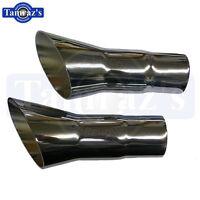 1968-1972 Cutlass 442 Chrome Exhaust Tips Trumpets-pair