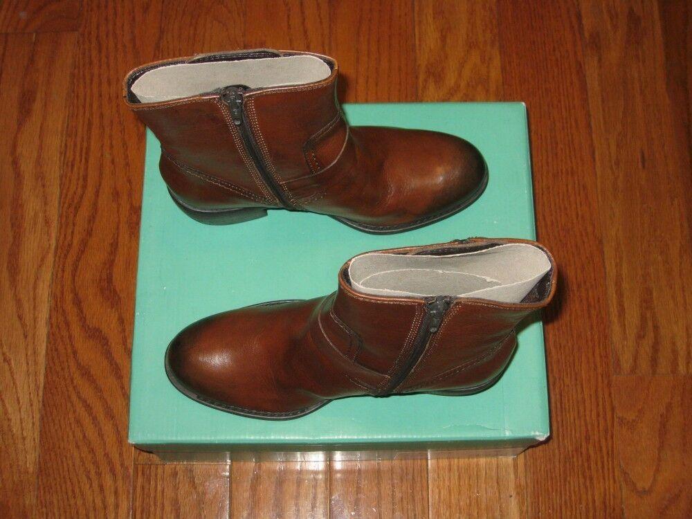 **New** Clarks Donna Mascarpone Cafe Pelle Ankle Stivali Shoes 7.5M Tan