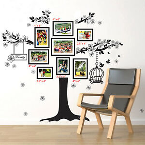 Mural-Decalque-Paper-Art-Decoration-HUGE-Photo-Frame-self-adhesive-Wall-Stickers